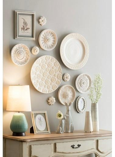 Warm Design Etnik Duvar Dekoru Beyaz
